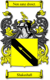 "Shakeshaft Coat Of Arms - Motto translates as ""Not Without Right"""